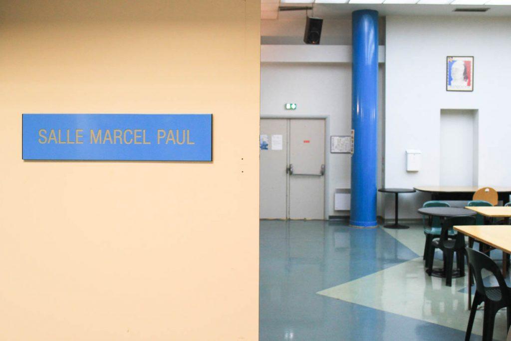 La salle Marcel Paul au CNS, hommage au ministre communiste fondateur d'EDF-GDF en 1946