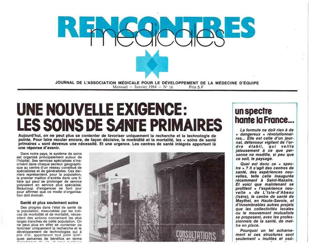 Rencontres Médicales - Journal fondé par Jean-François REY
