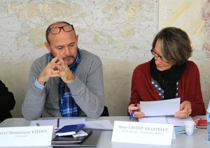 Pierre-Dominique VITOUX de CO conseil. A ses côtés Anne CASTOT-VILLEPELET